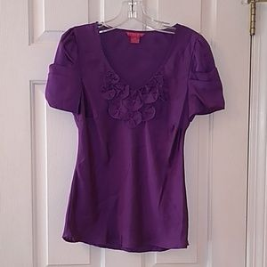 Sunny Leigh Tops - Petite Purple Blouse